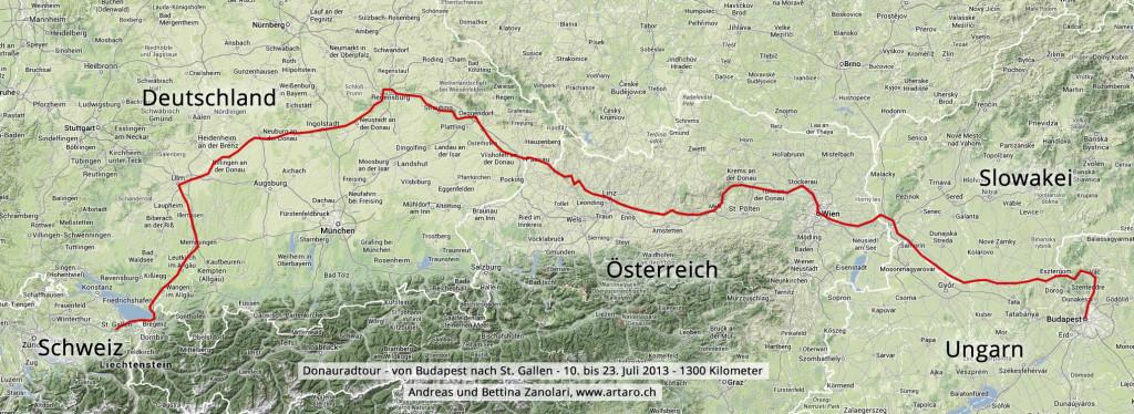 Donauradtour - Karte